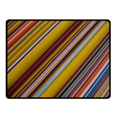 Colourful Lines Double Sided Fleece Blanket (Small)