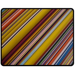 Colourful Lines Double Sided Fleece Blanket (medium)