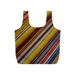 Colourful Lines Full Print Recycle Bags (s)
