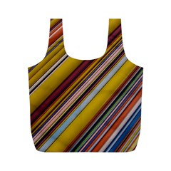 Colourful Lines Full Print Recycle Bags (m)