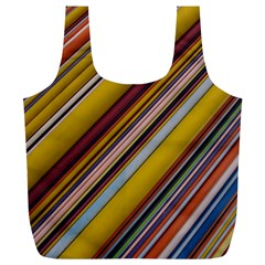 Colourful Lines Full Print Recycle Bags (L)