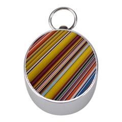 Colourful Lines Mini Silver Compasses
