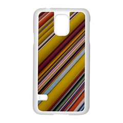 Colourful Lines Samsung Galaxy S5 Case (white)
