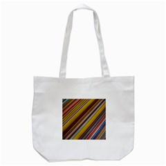 Colourful Lines Tote Bag (white)
