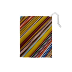 Colourful Lines Drawstring Pouches (small)