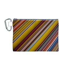 Colourful Lines Canvas Cosmetic Bag (M)