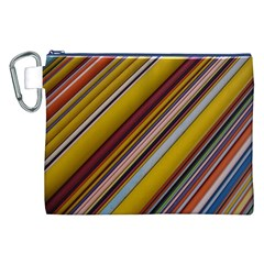 Colourful Lines Canvas Cosmetic Bag (xxl)