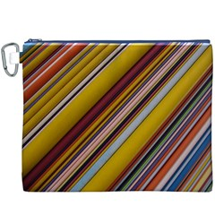 Colourful Lines Canvas Cosmetic Bag (XXXL)