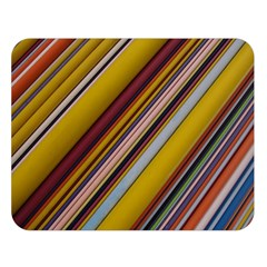 Colourful Lines Double Sided Flano Blanket (Large)