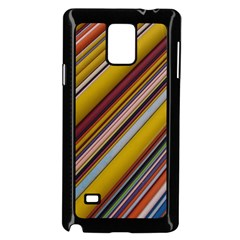 Colourful Lines Samsung Galaxy Note 4 Case (Black)