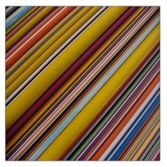 Colourful Lines Large Satin Scarf (square)