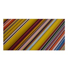 Colourful Lines Satin Shawl