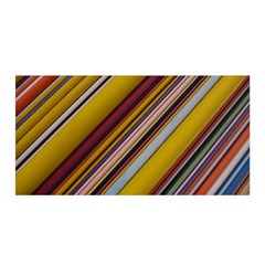 Colourful Lines Satin Wrap