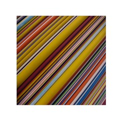 Colourful Lines Small Satin Scarf (square)