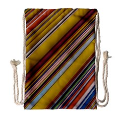 Colourful Lines Drawstring Bag (Large)