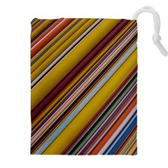 Colourful Lines Drawstring Pouches (XXL)