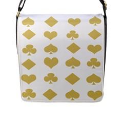 Card Symbols Flap Messenger Bag (L)
