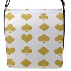 Card Symbols Flap Messenger Bag (S)