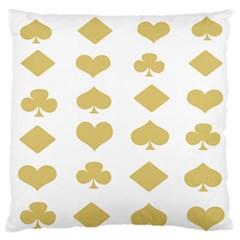 Card Symbols Standard Flano Cushion Case (Two Sides)