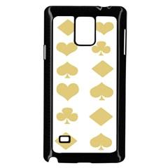 Card Symbols Samsung Galaxy Note 4 Case (Black)