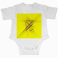 Fractal Color Parallel Lines On Gold Background Infant Creepers