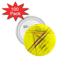 Fractal Color Parallel Lines On Gold Background 1.75  Buttons (100 pack)