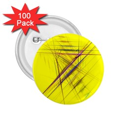 Fractal Color Parallel Lines On Gold Background 2 25  Buttons (100 Pack)