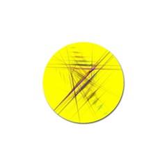 Fractal Color Parallel Lines On Gold Background Golf Ball Marker (4 pack)