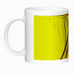 Fractal Color Parallel Lines On Gold Background Night Luminous Mugs