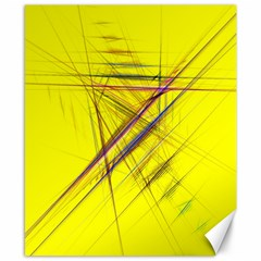 Fractal Color Parallel Lines On Gold Background Canvas 8  x 10