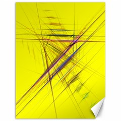 Fractal Color Parallel Lines On Gold Background Canvas 12  x 16