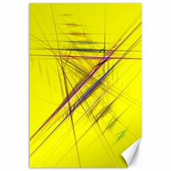 Fractal Color Parallel Lines On Gold Background Canvas 12  X 18