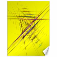 Fractal Color Parallel Lines On Gold Background Canvas 18  x 24