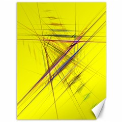 Fractal Color Parallel Lines On Gold Background Canvas 36  X 48