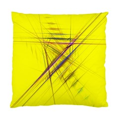 Fractal Color Parallel Lines On Gold Background Standard Cushion Case (Two Sides)