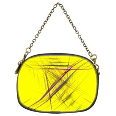 Fractal Color Parallel Lines On Gold Background Chain Purses (Two Sides)