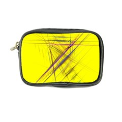 Fractal Color Parallel Lines On Gold Background Coin Purse