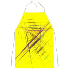 Fractal Color Parallel Lines On Gold Background Full Print Aprons