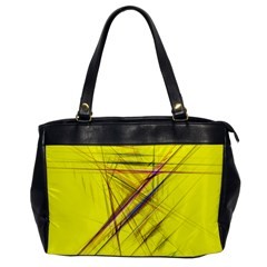 Fractal Color Parallel Lines On Gold Background Office Handbags