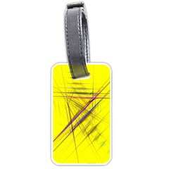 Fractal Color Parallel Lines On Gold Background Luggage Tags (Two Sides)