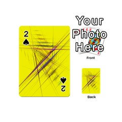 Fractal Color Parallel Lines On Gold Background Playing Cards 54 (mini)