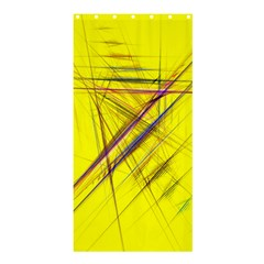 Fractal Color Parallel Lines On Gold Background Shower Curtain 36  x 72  (Stall)