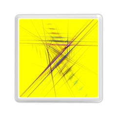 Fractal Color Parallel Lines On Gold Background Memory Card Reader (square)