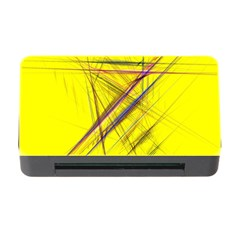 Fractal Color Parallel Lines On Gold Background Memory Card Reader With Cf