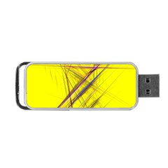 Fractal Color Parallel Lines On Gold Background Portable Usb Flash (two Sides)