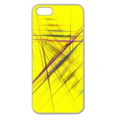 Fractal Color Parallel Lines On Gold Background Apple Seamless iPhone 5 Case (Clear)