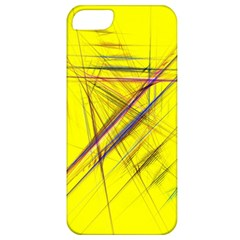 Fractal Color Parallel Lines On Gold Background Apple Iphone 5 Classic Hardshell Case