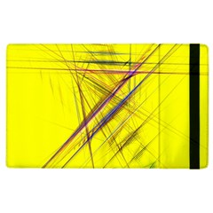 Fractal Color Parallel Lines On Gold Background Apple Ipad 2 Flip Case