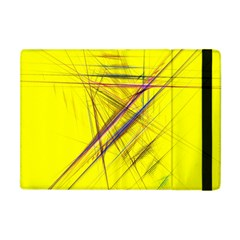 Fractal Color Parallel Lines On Gold Background Apple Ipad Mini Flip Case