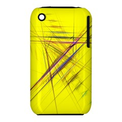 Fractal Color Parallel Lines On Gold Background iPhone 3S/3GS